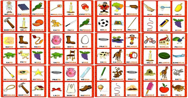 Jogos para Alfabetizar: Bingo dos Sons Iniciais