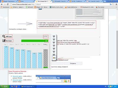 Всплывающая панель статистики. Как посмотреть статистику посетителей в реальном времени