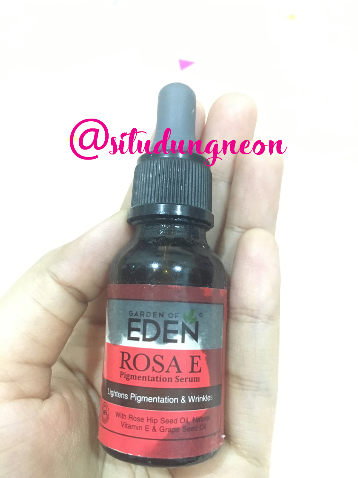 Garden Of Eden Rosa E Pigmentation Serum Lightens Wrinkles With Rose Hip Seed Oil Natural Vitamin G