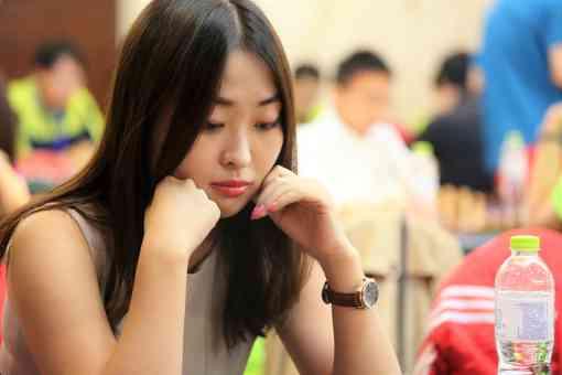 La challenger au titre de championne du monde d'échecs, Ju Wenjun (2571) - Photo © Gu Xiaobing