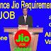 फ्रेशर्स 12 वीं पास आवेदन के लिए रिलायंस JIO भर्ती......