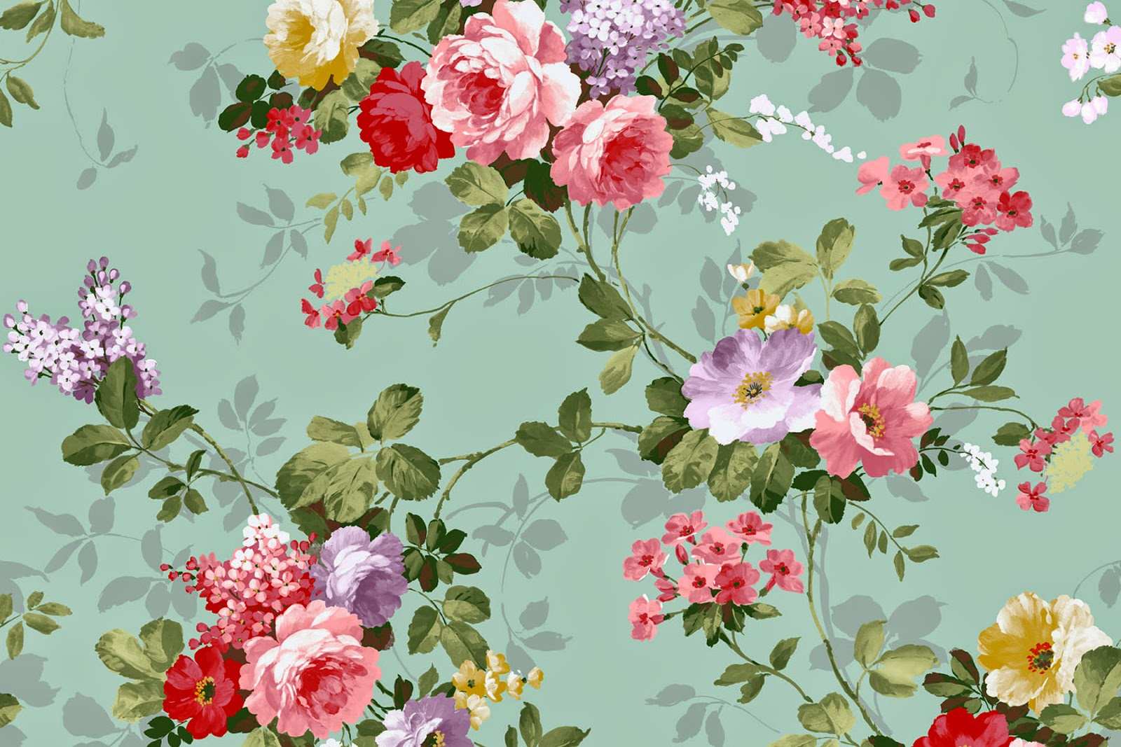 3e3267ae2fb7 Doodlecraft  Vintage Floral Wallpaper Freebies!