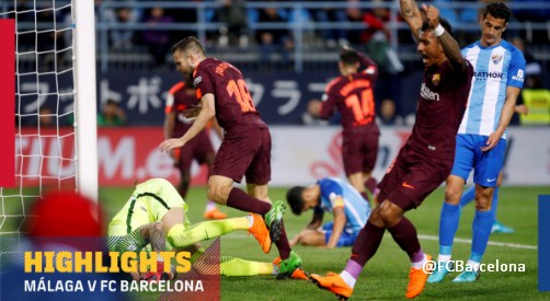 Malaga vs Barcelona 0-2 Highlights Video Goals