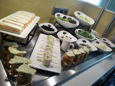DoubleTree Krakow Executive Lounge dinner items and snacks