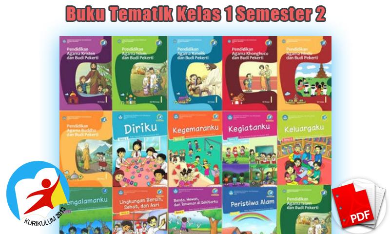 Buku Tematik Kelas 1 Semester 2 Kurikulum 2013 Revisi 2016