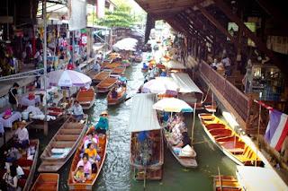 Tempat Belanja di Pattaya : Floating Market