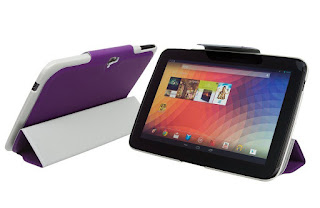 TEXTURED FULL BODY SMART CASE COVER WITH STAND FEATURE FOR GOOGLE NEXUS 10