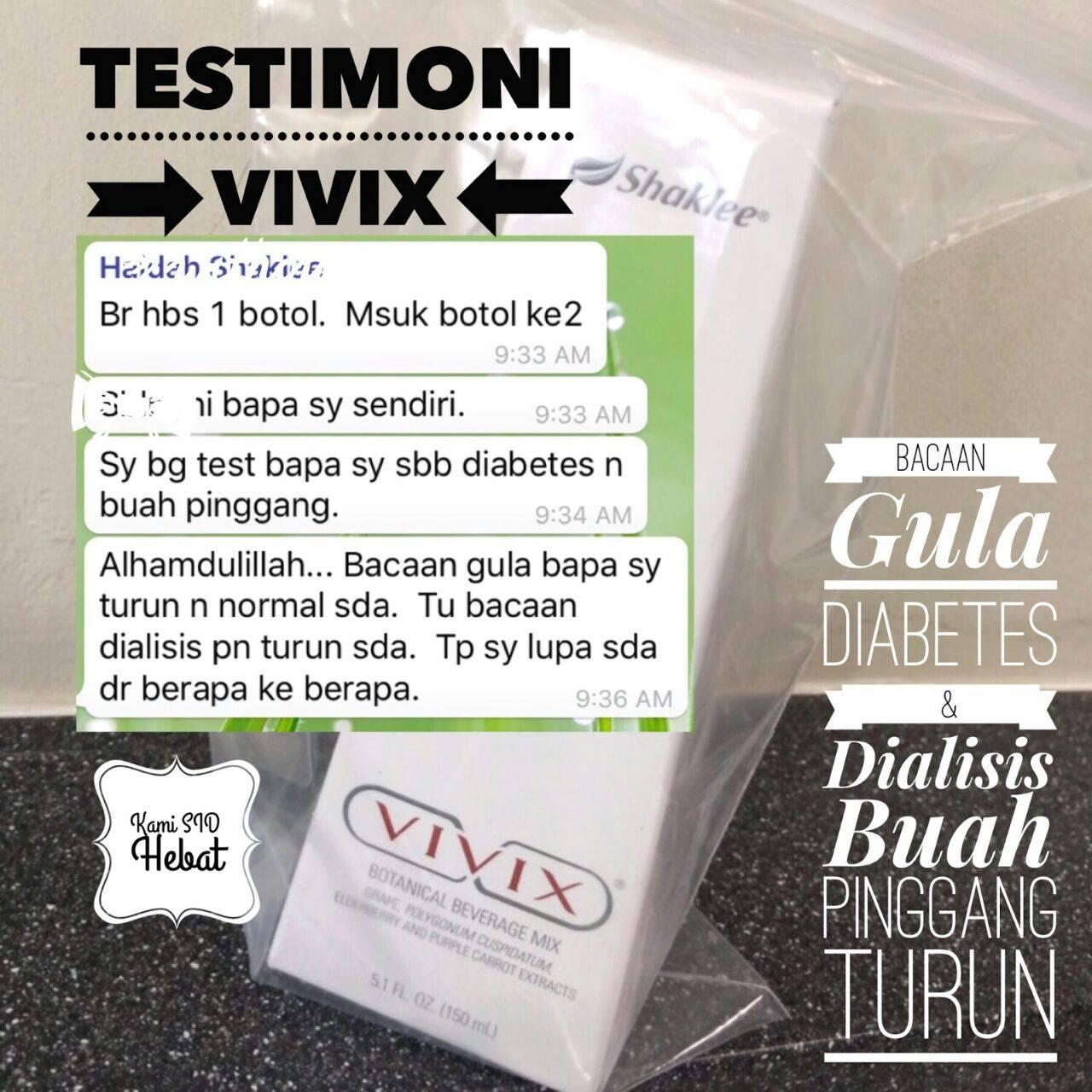 Vivix Shaklee Menyembuhkan Penyakit Gout, Buah Pinggang, Slip Disc &Diabetes!