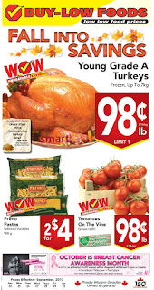 Buy-Low Foods Flyer September 24 – 30, 2017