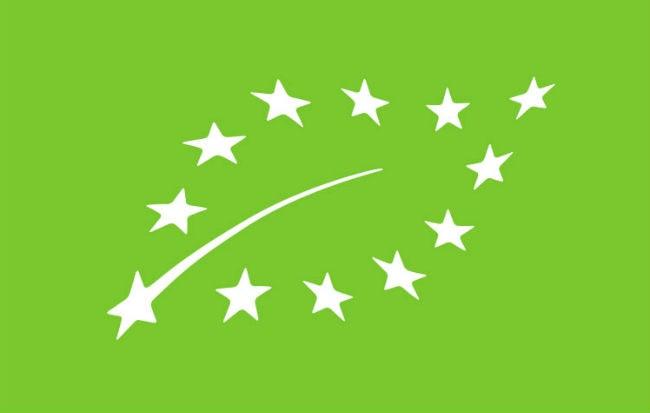 Il logo dei prodotti da agricoltura biologica dell'Unione Europea