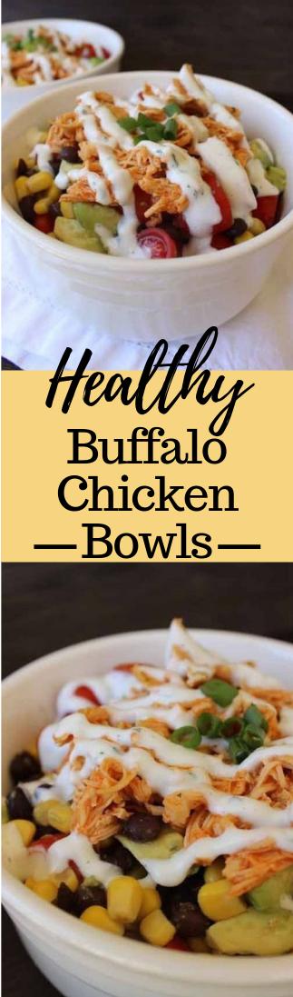 Healthy Buffalo Chicken Bowls #keto #glutenfree