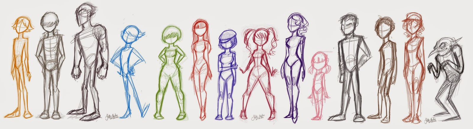 Kate S Arts Bodytype Chart Sketches
