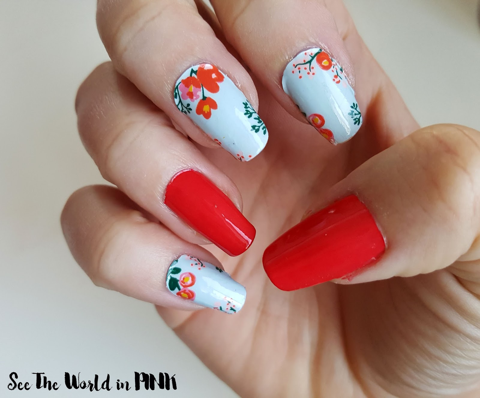 Scratch Bloom Nail Wraps