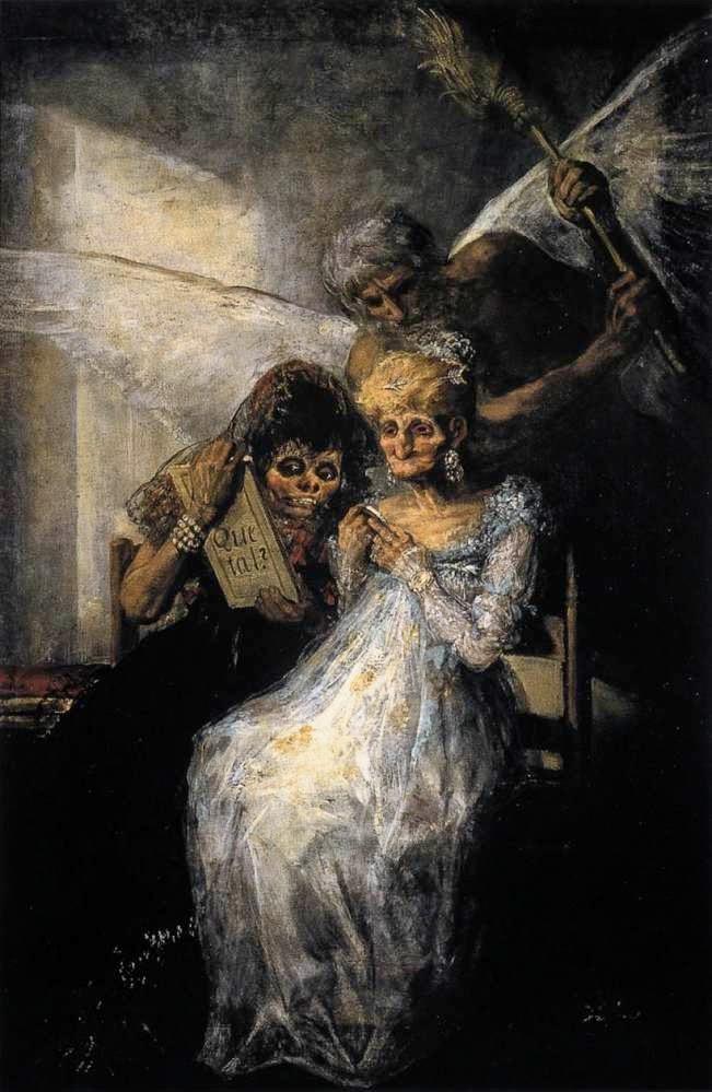 Tempo e as Mulheres mais Velhas - Goya, Francisco e suas pinturas ~ Foi um importante pintor espanhol da fase do Romantismo