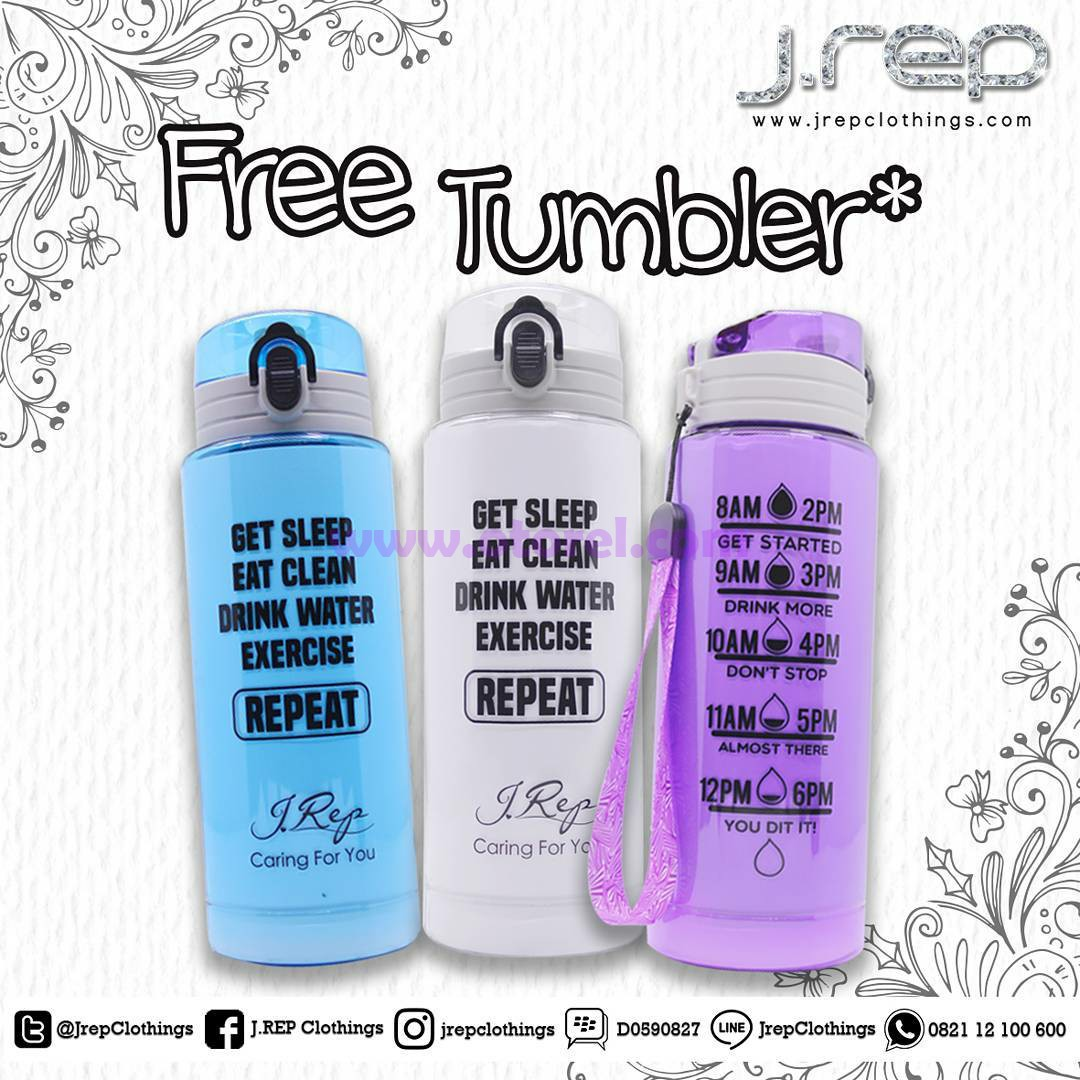 J.rep Clothings Promo Free Tumbler Hingga 26 November 2017