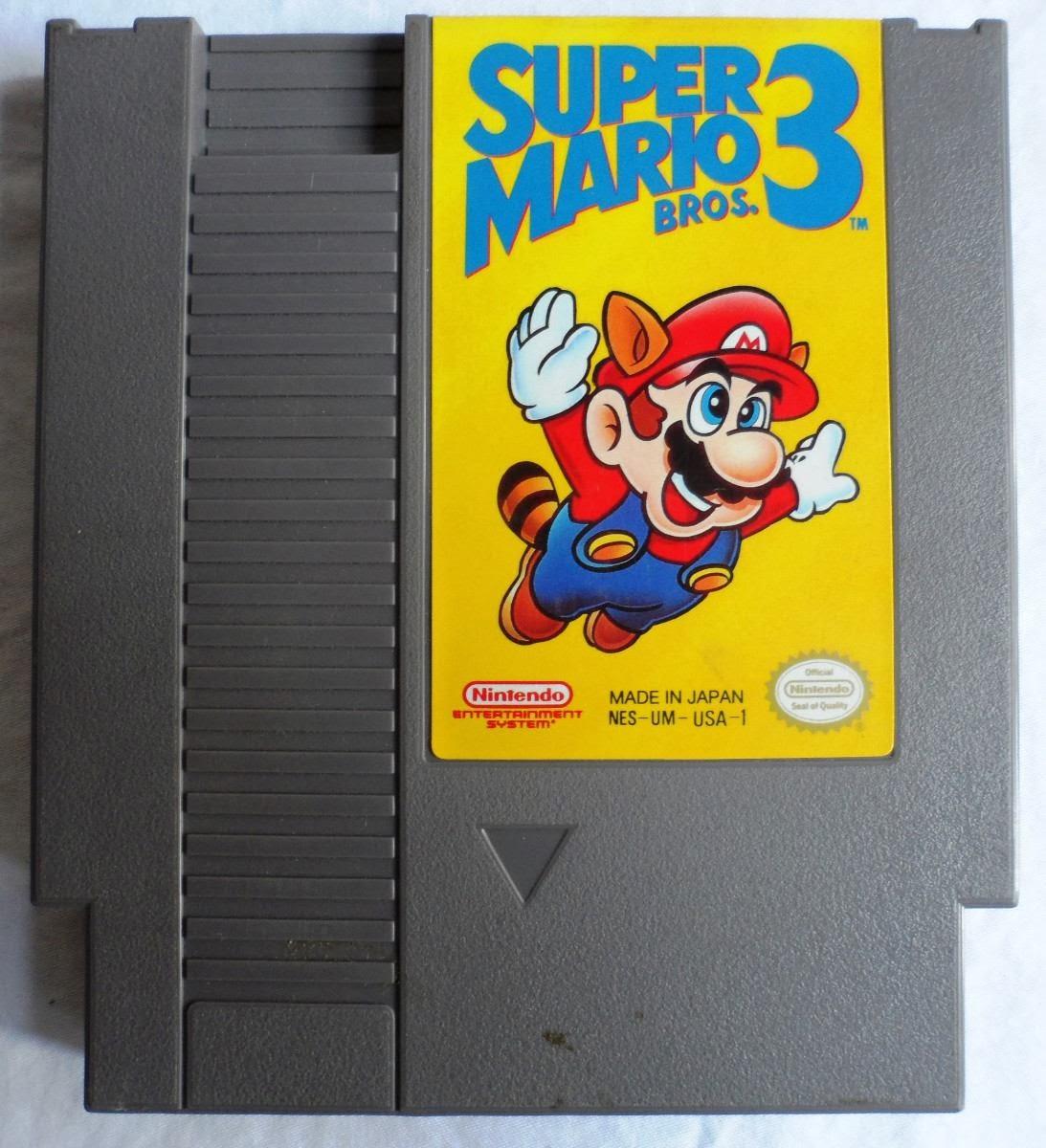 Imagen del cartucho de la NES del SMB3