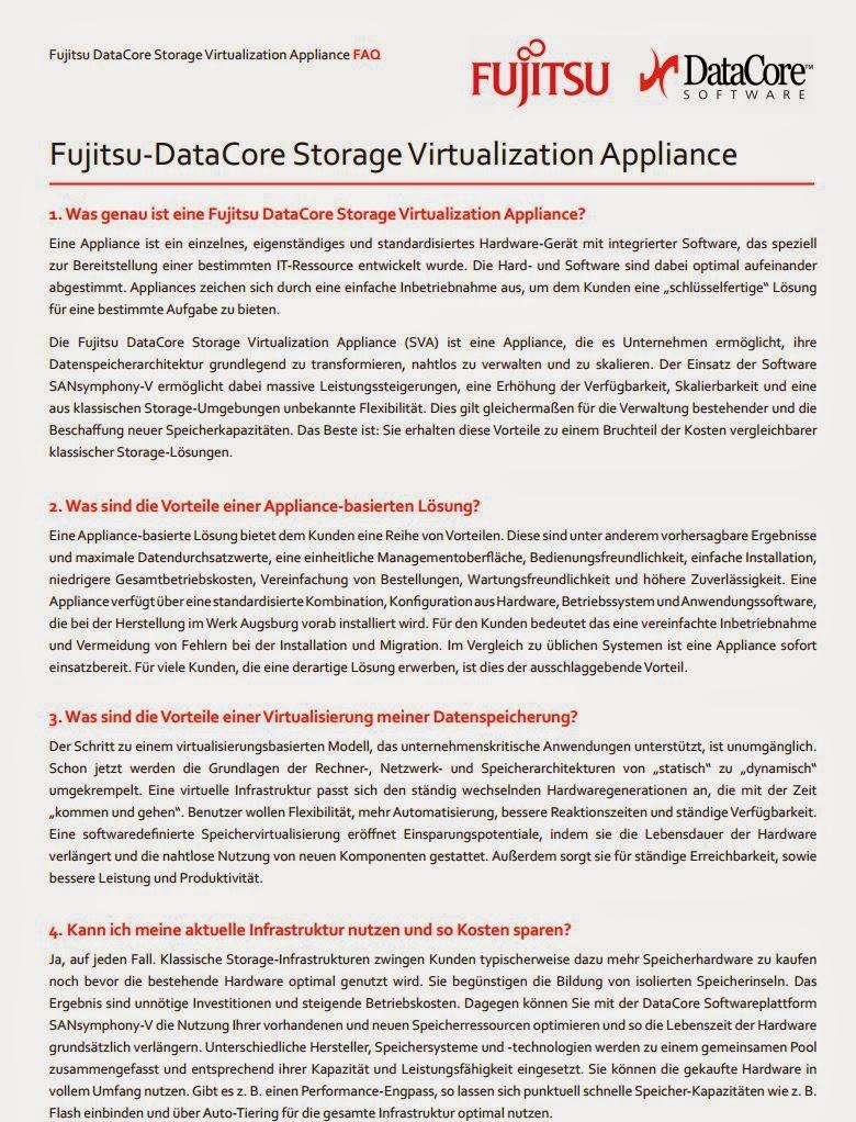 Was genau ist eine Fujitsu DataCore Storage Virtualization Appliance?