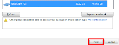 Backup Data Komputer Windows 7 Pilih Data