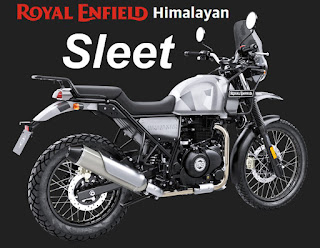 Royal Enfield photograph of Himalayan in Sleet color.
