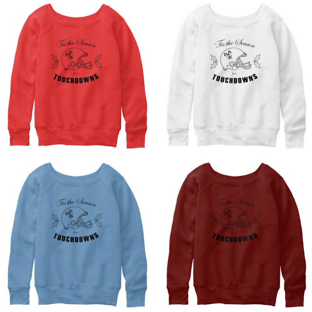 football fan holiday crewneck sweatshirt