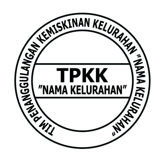 Contoh Design Stempel TPPK ( TIM PENANGGULANGAN KEMISKINAN