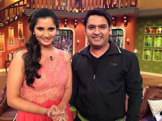 Sania Mirza With Kapil Sharma In The Kapil Sharma Show