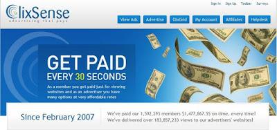 نتيجة بحث الصور عن (1) شركه clixsense للربح المجانى من الانترنت