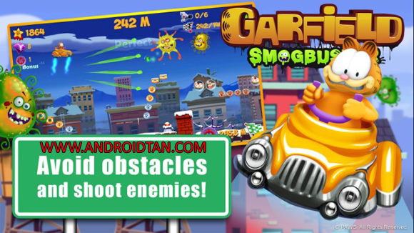 Free Download Garfield Smogbuster Mod Apk v1 (Unlimited Money) Android Terbaru 2017