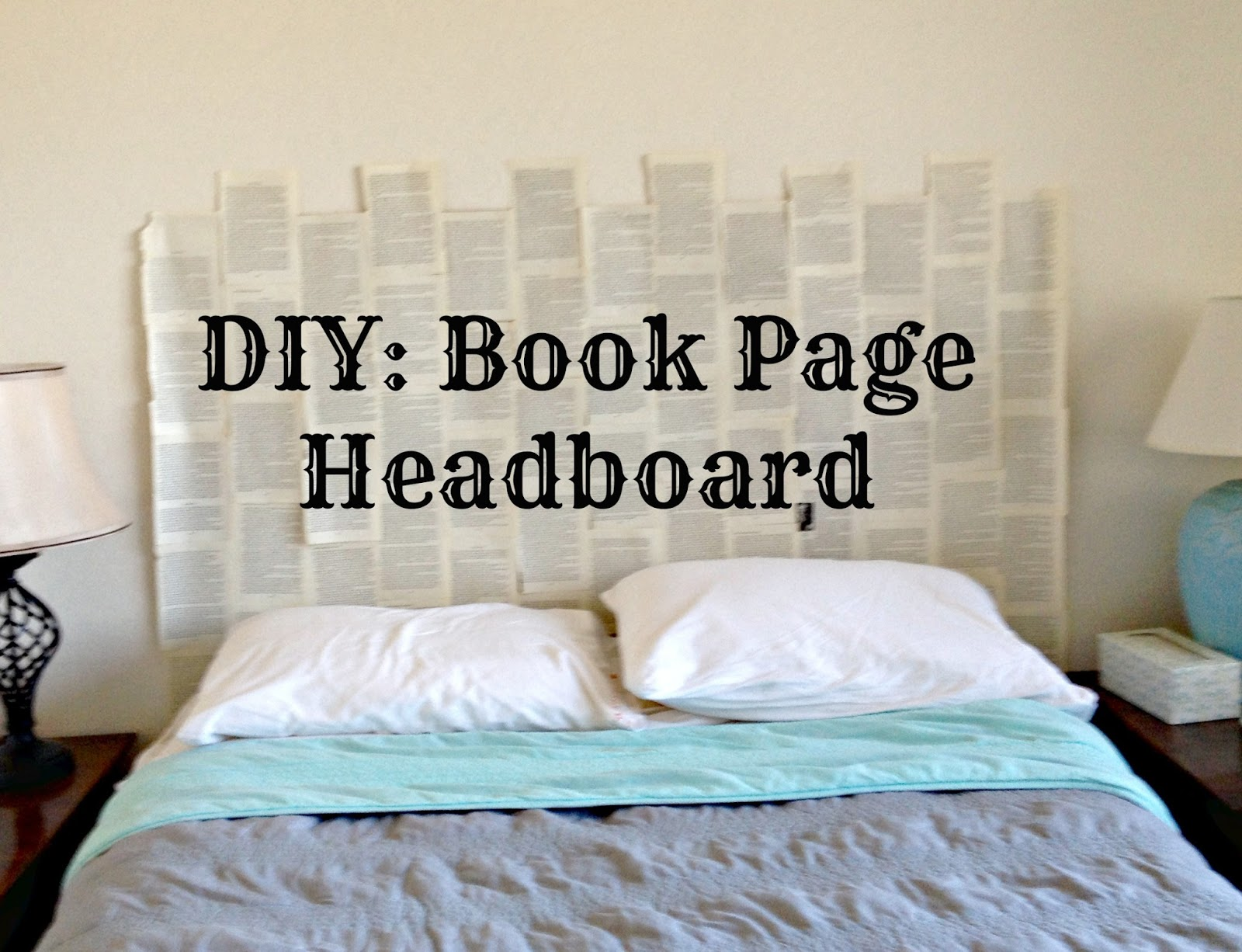 DIY: Book Page Headboard