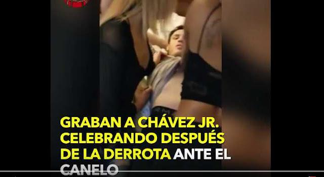 Julio César Chávez Jr. celebra derrota ante Canelo rodeado de cinco mujeres (VIDEO)