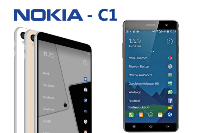 nokia c1 , android