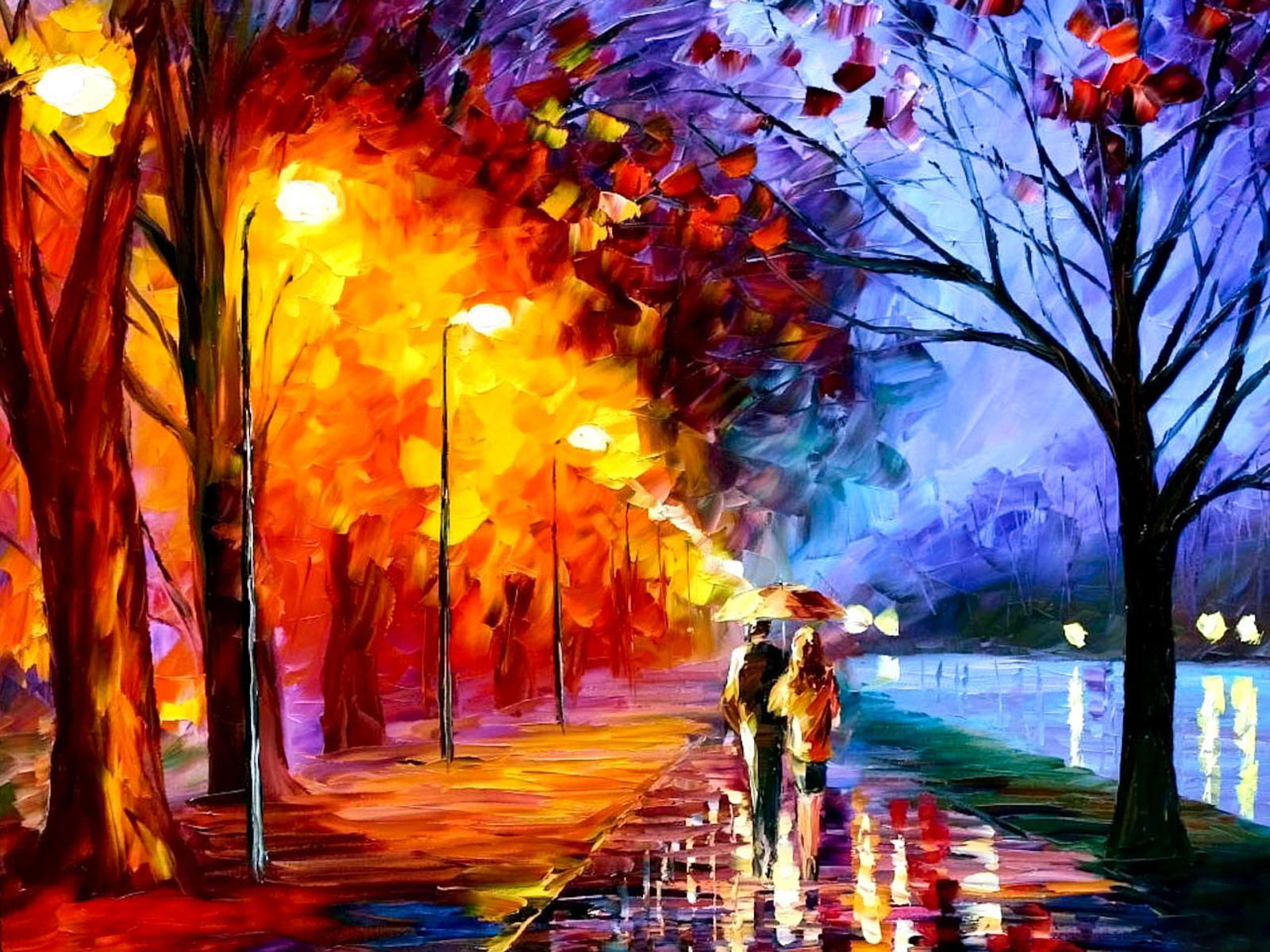 Wallpapers Autumn Oil Paintings