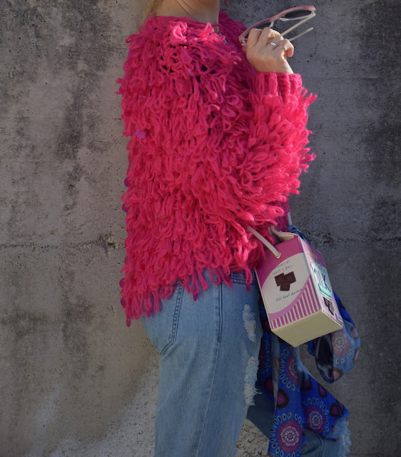 outfit maglione di lana fucsia come abbinare un maglione fucsia abbinamenti maglione fucsia  mariafelicia magno fashion blogger colorblock by felym fashion blog italiani blog di moda blogger italiane di moda web influencer italiane