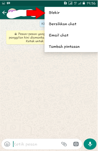 Pilih Blokir Whatsapp