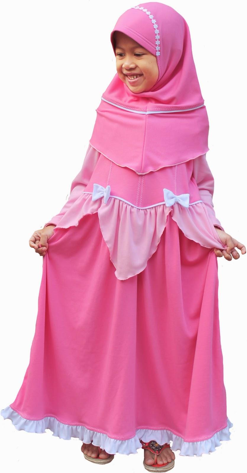 30+ Model Baju Fashion Show Anak Perempuan Muslim
