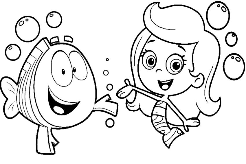 Coloring pages of bubbles ~ Fazendo a Nossa Festa - Colorir: Imagens Bubble Guppies ...