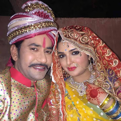 Dinesh Lal Yadav and Amrapali Wedding look image