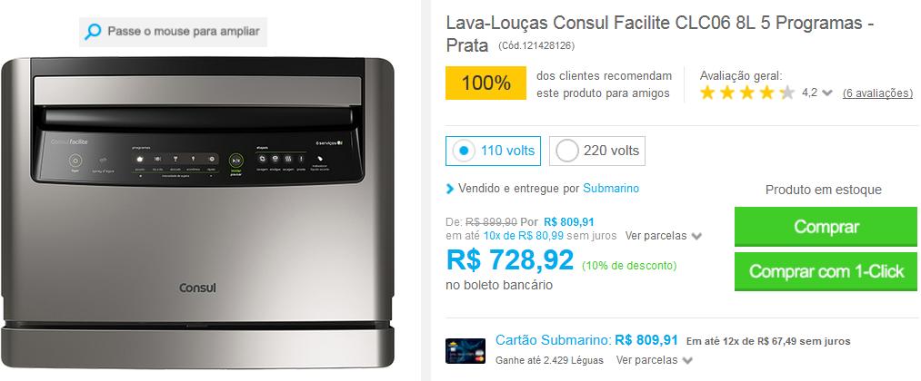 http://www.submarino.com.br/produto/121428126/lava-loucas-consul-facilite-clc06-8l-5-programas-prata?franq=AFL-03-117316&opn=COMPARADORESSUB