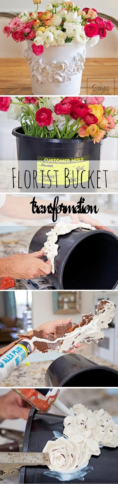 flower bucket transformation pinterest graphic