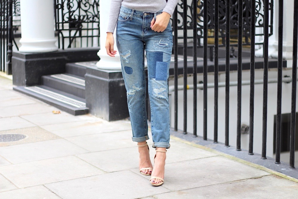patchwork denim jeans brand attic peexo
