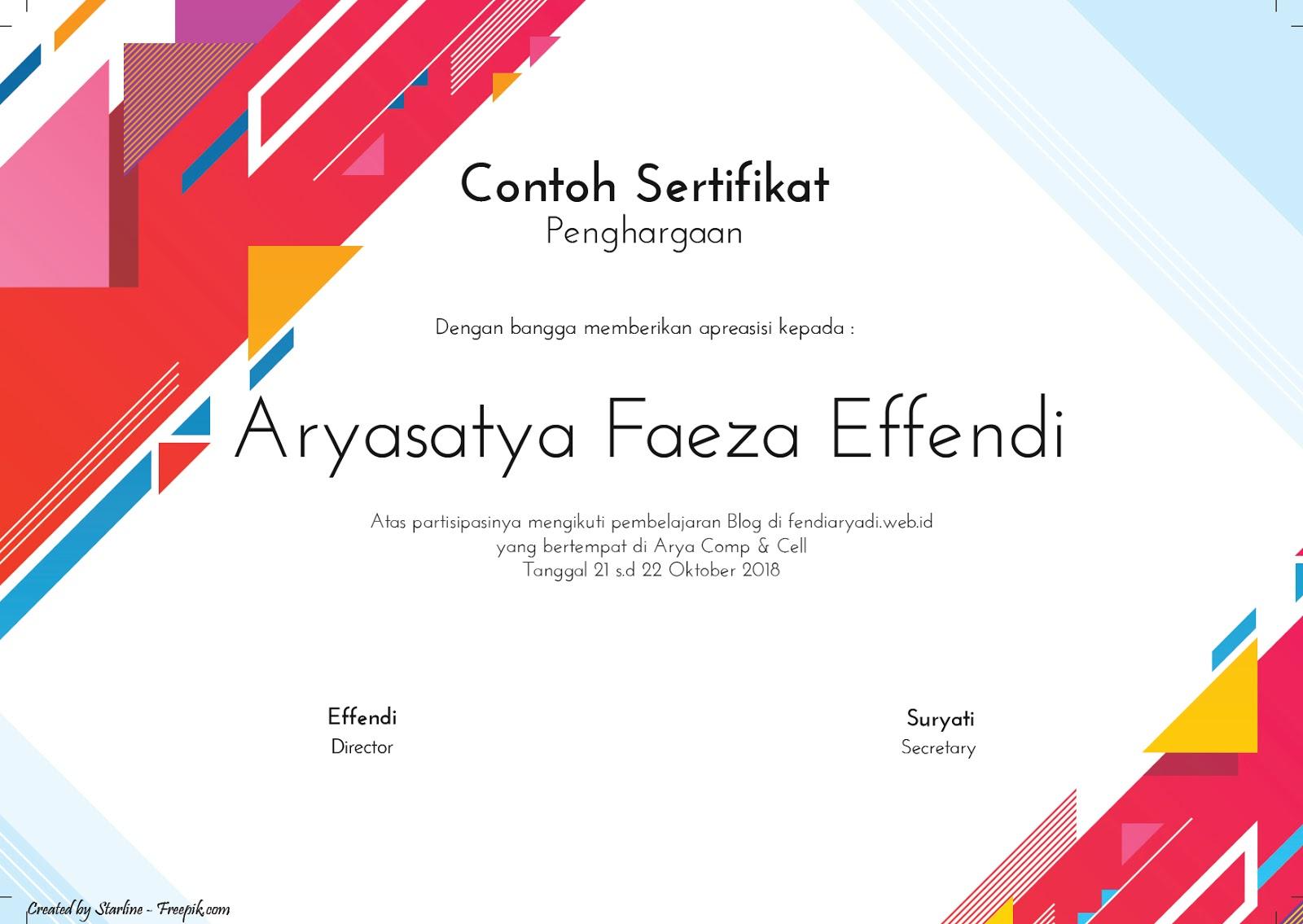 Langkah Mudah Membuat Piagam Sertifkat Keren Serba Serbi Kehidupan