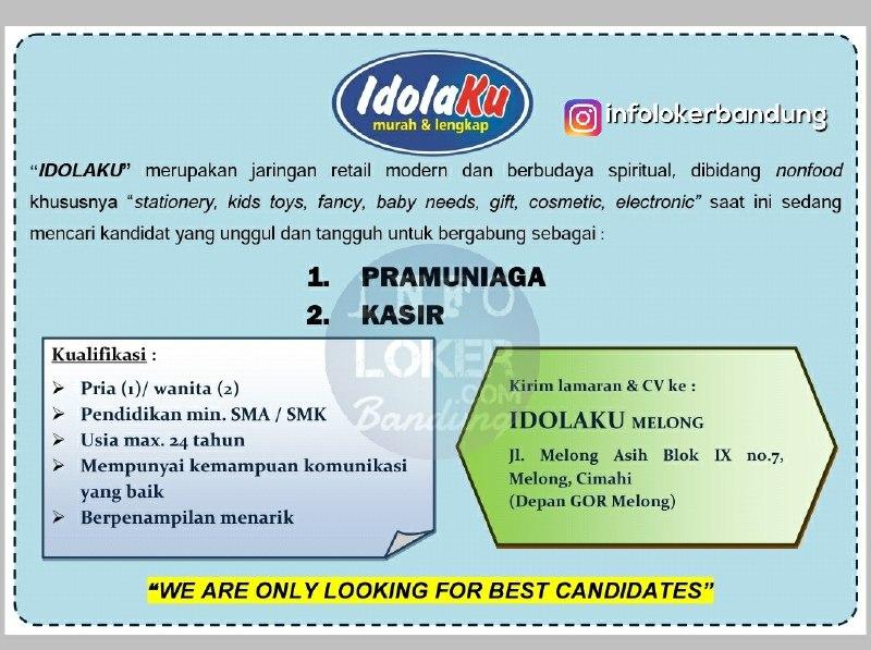Lowongan Kerja Idolaku Mart Bandung April 2018