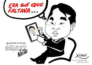 Marcio Xkid Caricaturista-SP: GALAX NOTE DA SANSUNG ÓTIMO