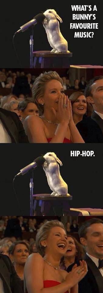 Funny What's A Bunny's Favourite Music - Hip-Hop Meme Picture