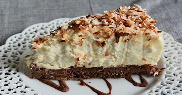 Brownie-Bottom Coconut Cream Cheesecake Recipe