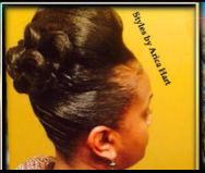 Updo for black women