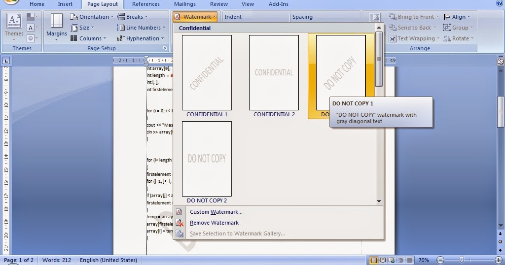 Cara Membuat Tulisan Transparan Watermark Pada Microsoft Word Tutorial Komputer