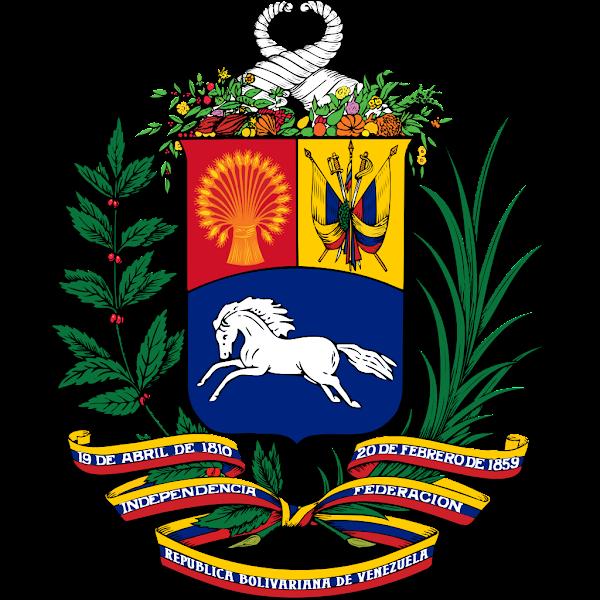 Logo Gambar Lambang Simbol Negara Venezuela PNG JPG ukuran 600 px