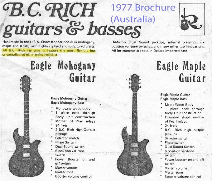 THE UNIQUE GUITAR BLOG: B.C Rich Guitars