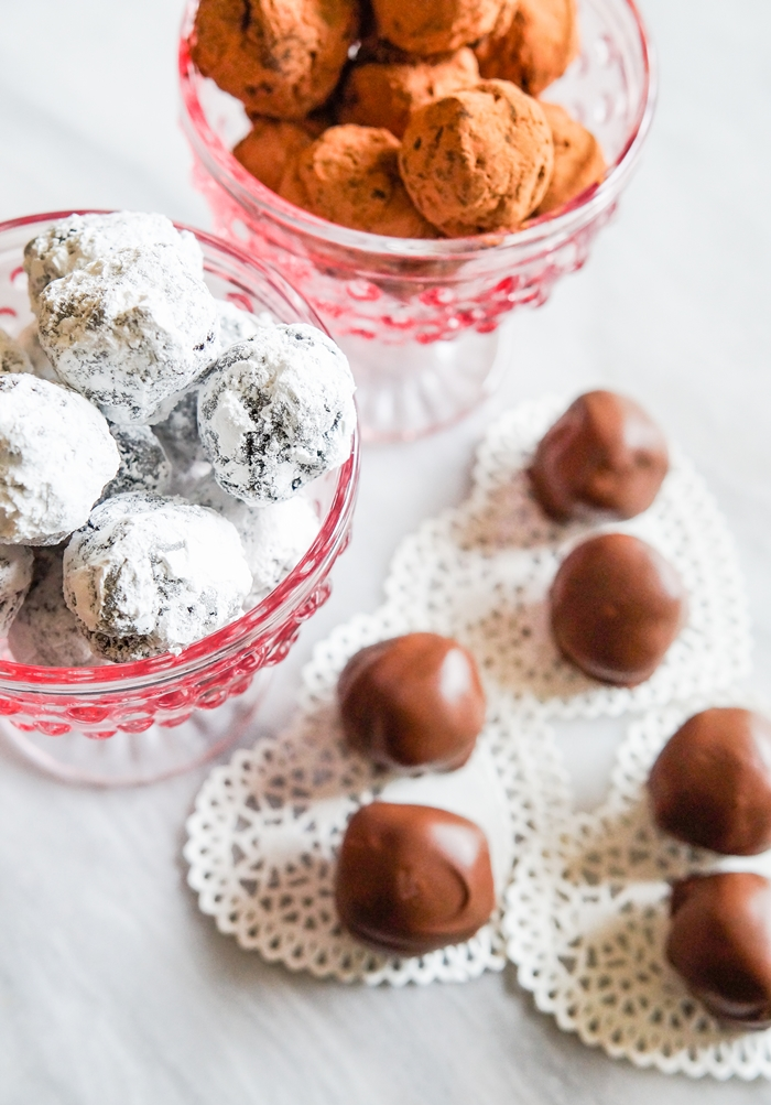 brownie truffles, 3 ways